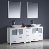 "Elsa 72"" White Bathroom Vanity"