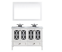 "Florida 72"" Bathroom Vanity White with Stone Top"