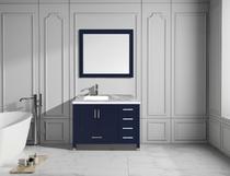 Royal Hollywood 40 inch Navy Blue Off-set Left Bathroom Vanity