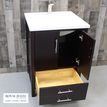 "Ultra 24"" Espresso Bathroom Vanity"