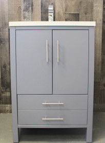 "Ultra 24"" Gray Bathroom Vanity  ***SALE SALE SALE"
