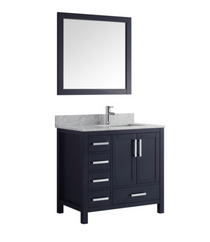 "Hollywood 42"" Navy Off-set Right Bathroom Vanity"