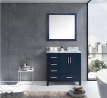 Royal Hollywood  44 inch Navy Blue Off-set Right Bathroom Vanity