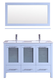 "Victoria  48"" White Bathroom Vanity"