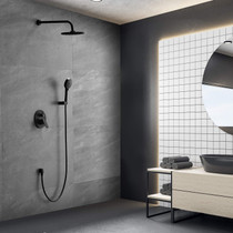 "Midnight Skye 2 way Shower System-Wall Mounted Shower Set with 9"" Rain Shower head and 5-Setting Handheld Shower Head-Shower Combo Set with Valve Included"