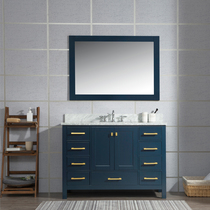 Hollywood 55 inch Navy Blue Bathroom Vanity