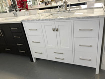 "Maria 48"" White Bathroom Vanity"