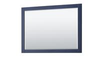 """Royal Wooden Framed Mirror 48"""" Navy Blue Mirror"""