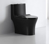 Crown Ever Clean Midnight All Black  Dual Flush Toilet Matte