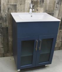 """Jane 24"""" Bathroom Vanity in Navy Blue"""