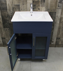 "Jane 24"" Bathroom Vanity in Navy"