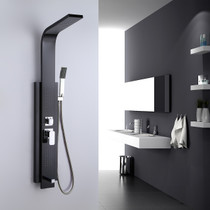 Rio All In One Shower Panel Stainless Steel in Matte Black