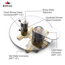 Royal Sky Two-Way Shower System with Handheld in Brushed Nickel