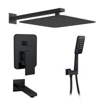 Royal Midnight Three-Way Shower System in Matte Black