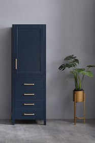 """18.5"""" Navy Hollywood  Linen Cabinet"""