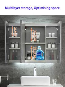 """72"""" Royal Dash Back-Lit Medicine Cabinet With Defogger"""