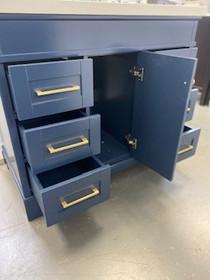Naples 36 inch Navy BlueBathroom Vanity Centered Sink