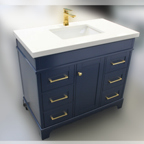 Naples 46 Inch Navy Blue Bathroom Vanity Centered Sink