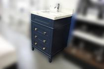 """Ibis 24"""" Navy Blue Bathroom Vanity"""