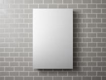 "Kohler Catalan®24-1/8"" W x 36-1/8"" H aluminum single-door medicine cabinet with 170 degree hinge"
