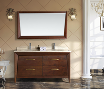 Berkshire 60 inch Double Sink Bathroom Vanity Solid Cherry Wood *New Collection