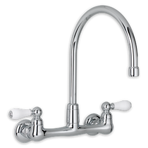 American Standing Heritage Collection Heritage 2-Handle High-Arc Wall-Mount 1.5 GPM Kitchen Faucet