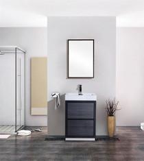Blizz 24 Inch Gray Oak Freestanding Bathroom Vanity **SALE