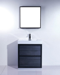 "Blizz 30"" Gray Oak Freestanding Bathroom Vanity"