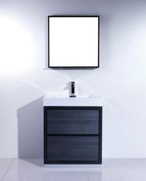 Blizz 30 inch Gray Oak Freestanding Bathroom Vanity