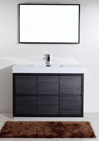 Blizz 48 inch Gray Oak Freestanding Bathroom Vanity