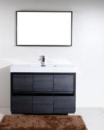 Blizz 56 Inch Single Sink Gray Oak Freestanding Bathroom Vanity.  **SALE