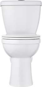 Delta Foundations Dual Flush Round Front Toilet in White