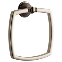 Brizo CHARLOTTE® Towel Ring in Cocoa Bronze / Polished Nickel