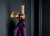 Brizo INVARI™ Robe Hook in Polished Gold