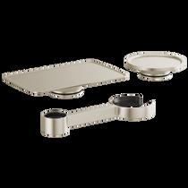 Brizo KINTSU™ Freestanding Tub Filler Accessory Kit in Luxe Nickel