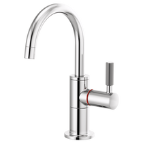 Brizo LITZE® Instant Hot Faucet with Arc Spout and Knurled Handle in Chrome