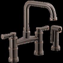Brizo ARTESSO® Bridge Faucet with Side Sprayer in Venetian Bronze