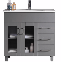 "Jane 36"" Gray Bathroom Vanity"