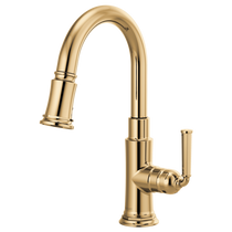 Brizo ROOK® Pull-Down Prep Faucet in Polished Gold