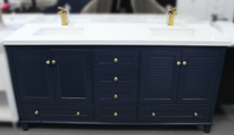 "Keyes 72"" Navy Blue Double Sink Bathroom Vanity"