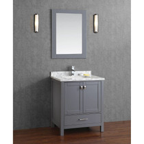 Key West 28 inch Gray Bathroom Vanity
