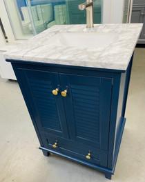 """Keyes 30"""" Navy Blue  Bathroom Vanity"""