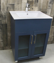 Jane 30 inch Bathroom Vanity in Navy Blue