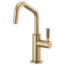 Brizo LITZE® Beverage Faucet with Angled Spout and Knurled Handle in Luxe Gold