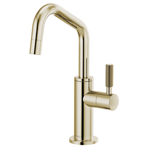 Brizo LITZE® Beverage Faucet with Angled Spout and Knurled Handle in Polished Nickel