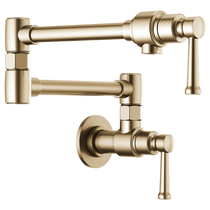 Brizo ARTESSO® Artesso Wall Mount Pot Filler in Luxe Gold