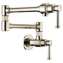 Brizo ARTESSO® Artesso Wall Mount Pot Filler in Polished Nickel