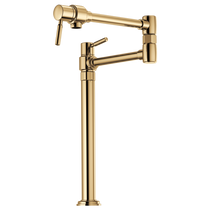 Brizo EURO Deck Mount Pot Filler Faucet in Polished Gold