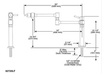 Brizo EURO Deck Mount Pot Filler Faucet in Luxe Steel