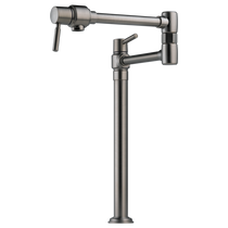 Brizo EURO Deck Mount Pot Filler Faucet in Luxe Steel